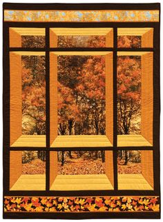 Happy Earth Day! » Nature Walk - Window On The East by The Information Factory. Timeless Treasures Fabrics