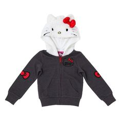 Hello Kitty Toddler Girls' Costume Hoodie 2T - Heather Grey : Target