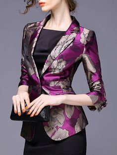 Buy Remarkable Lapel With Pockets Printed Blazers online with cheap prices and discover fashion Blazers at Fashionmia.com.