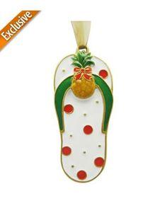 Margaritaville Pineapple Sandal Ornament