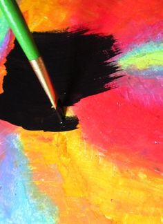 How To Make Scratch Paper Art: make your own scratchboard paper and then your own scratch paper art. Paper Drawing, Paper Art, Rainbow Drawing, Rainbow Fairies, Reflection Art, Scratchboard Art, Art Projects, Class Projects, Scratch Art