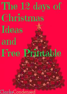 12 days of Christmas ideas and free printable