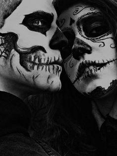 Skull (sugar skull?) Halloween makeup