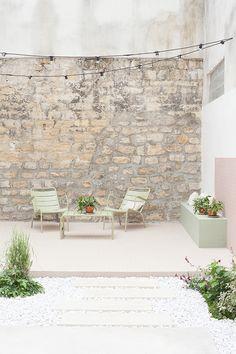 ideas for backyard dining patio courtyards Outdoor Rooms, Outdoor Gardens, Outdoor Living, Garden Deco, Patio Interior, Interior And Exterior, Exterior Houses, Interior Design, Garden Inspiration