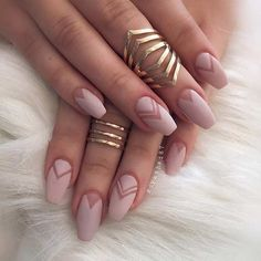 Matte Neutral Nail Design for Long Nails