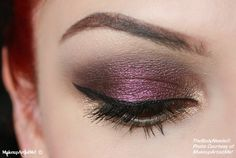 """""""Pure Elegance"""" by MakeupArtistMe! Naughty Plum, Nude, and Goddess pigments."""
