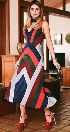 1b879c219 Vestido Longuete, Vestido Curto, Vestido Listrado, Vestido Florido, Vestido  De Festa,