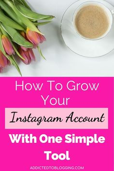 A huge part of being a blogger is creating a following on social media. Learn how to grow your Instagram account with one simple tool. Most Popular Social Media, Social Media Tips, Creating A Business, Growing Your Business, Business Tips, Online Business, Instagram Insights, Instagram Tips, Hashtag Finder