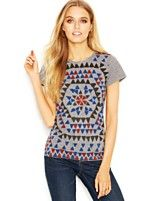 Lucky Brand Plus Size Short-Sleeve Crew-Neck Printed Tee