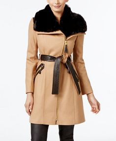 229.99$  Watch now - http://viash.justgood.pw/vig/item.php?t=bvfqpo4197 - Faux-Fur-Collar Wool-Blend Walker Coat, Only at Macy's 229.99$