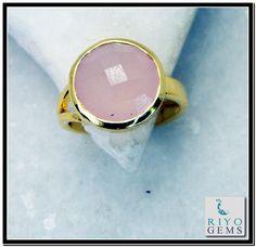 Rose Quartz Gems 18.Kt Yellow Gold Plated Eternity Ring Sz 6 Gprroq6-6805 http://www.riyogems.com