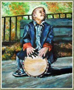 Oil   Street musician