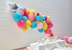 Paper lantern party decor