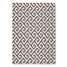 $90 5x7 Threshold™ Indoor Outdoor Flatweave Greek Key Rug, gray or blue