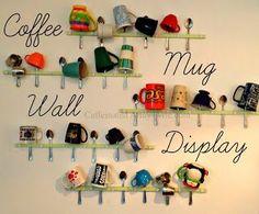 Coffee Mug Display Wall - My $7 project!