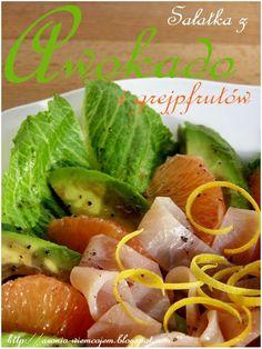 Wiem co jem - Sałatka z awokado i grejpfrutów