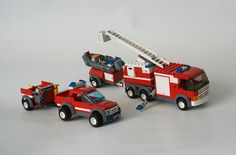 Lego City. Off-Road Fire Rescue (7942) and Fire Truck (7239)