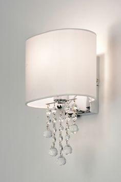 Wandleuchte 88940: Modern, Kristall, Kristallglas, Stahl Rostbestaendig