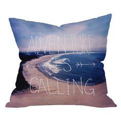 Leah Flores Adventure Is Calling Pillow