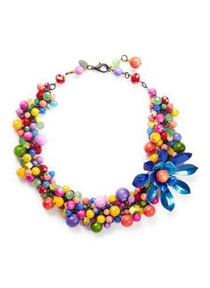 ''Kumbaya' flower bead necklace #necklace #women #covetme #ericksonbeamon