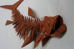 a fossil-fish skeleton by origamist redpaper, via Flickr