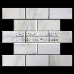 (http://www.carraratiles.com/calacatta-gold-italian-marble-3x6-subway-tile-beveled-honed.html)