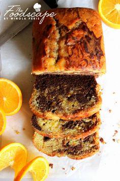 Orange Chocolate Marble Cake – The Foodscape Chocolate Marble Cake, Chocolate Loaf Cake, Dark Chocolate Cakes, Healthy Orange Cake, Marbel Cake, Cake Recipes, Dessert Recipes, Bread Recipes, Baking Recipes