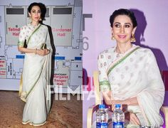 We spotted the lovely Karisma Kapoor at an event in Mumbai and it's safe to say the actress was looking her absolute best! The diva was in a chatty mood as she interacted with attendees and mingled with her friends. Donned in a stunning saree with intricate gold jhumkas and dewy make-up Lolo surely gave us major style inspiration! What about you? by #Filmfare. Shared by #BollywoodScope