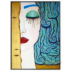 Modern Oil Painting, Oil Painting Abstract, Abstract Wall Art, Figure Painting, Canvas Wall Art, Gustav Klimt, Art Texture, Wall Art Crafts, Canvas Crafts
