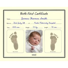 A Basic Printable Birth Certificate With An Elaborate Historic
