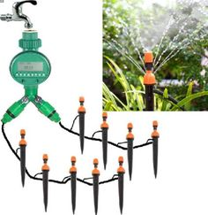 Cheap manual sprinklers, Buy Quality irrigation watering dripper directly from China watering set Suppliers: dripper irrigation hose set Auto/Manual DIY Watering Irrigation System Sprinkler with Spike Above Ground Sprinkler System, Lawn Sprinkler System, Garden Irrigation System, Sprinkler Irrigation, Hydroponic Plants, Hydroponics, Auto Watering System, Terrace Decor, Terrace Garden