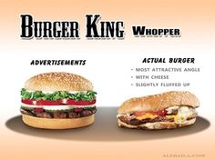 The Expectation Vs. Reality Of Fast Food, Based On Advertisements