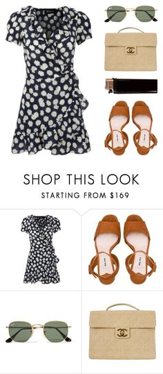 """""""I'M EASY LIKE SUNDAY MORNING"""" by arditach ❤ liked on Polyvore featuring Miu Miu, Ray-Ban and Chanel"""