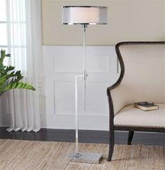 Uttermost Duarte Nickel-Plated Floor Lamp