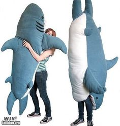 Shark Pillow WIN! It might scare me in the dark though..