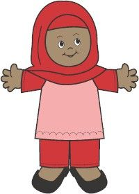 Muslim Paper Doll Friends