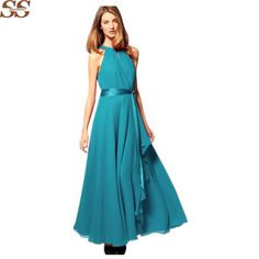 Goedkope SPARSHINE 2016 Mode vrouwen Sexy Maxi jurk lange Casual Strand Chiffon Feestjurken stijl goedkope vestidos de festa, koop Kwaliteit jurken rechtstreeks van Leveranciers van China: