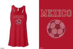 Get ready for Futbol! Yay! This cute tank from Hipkraft.com plus so many soccer designs! #futbol #mexico #lavidaloca #soccer #soccermom #footie #worldcup
