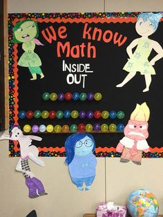 My new Inside Out bulletin board for my 3rd grade classroom! I'm going to put each Common Core standard in a memory ball as we learn them.
