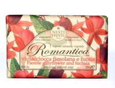 Nesti Dante Romantica Fiesole Gillyflower and Fuchsia Flower Natural Floral Scented Bar Soap for Bath Hands and Body 250g by Nesti Dante. $9.00. excellent choice for men or women. rich and creamy triple-milled bar soap. made in Italy. dermatologically tested. floral, earthy scent of Fiesole Gillyflower and Fuchsia flowers. The latest addition to Nesti Dante`s Romantica Collection, this natural soap bar blends the gorgeous fragrance of Gillyflower (carnation) together wit...