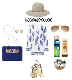 """""""Unbenannt #41"""" by sabrinaahz on Polyvore featuring Mode, Dorothy Perkins, Janessa Leone, Ray-Ban, Chanel, Moschino, Michael Kors, Kate Spade, Urban Decay und summerhat"""