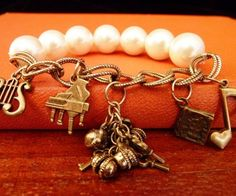 Classical Music With Pearls Bracelet