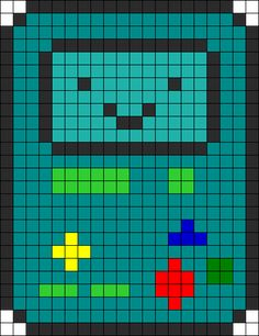 Beemo Perler Bead Pattern | Bead Sprites | Characters Fuse Bead Patterns