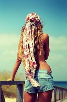 Scarves and long hair.
