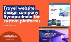Grow your travel business with custom-made platforms.   CREATIVE WEBSITE DESIGN SERVICE of SynapseIndia ensures maximum booking.  INCREASE WEB TRAFFIC TO ENGAGE MORE CUSTOMERS through an appealing portal. Travel Website Design, Website Design Services, Website Design Company, Travel Deals, Business Travel, Platforms, Portal, Traveling By Yourself, Creative