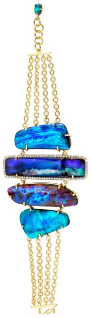 Irene Neuwirth mixed boulder opal bracelet.