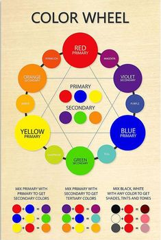 Mixing Paint Colors, Color Mixing Guide, How To Mix Colors, Color Mixing Chart Acrylic, Acrylic Paint Colors, Warm Colors, Color Wheel Worksheet, Color Wheel Art, Color Wheel For Hair