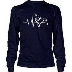 Men's T-Shirts, T shirts for Men Bass Clef heart #tshirt