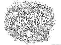 Christmas Doodle Coloring Pages - 1+1+1=1