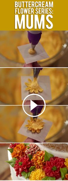 How To: Buttercream Mums